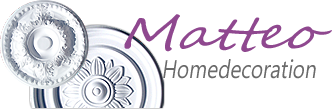Stuckleisten|Stuckrosetten|Balken Holzimitat|Deckenplatten-Logo